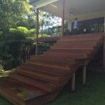 Merbau Decking with steps