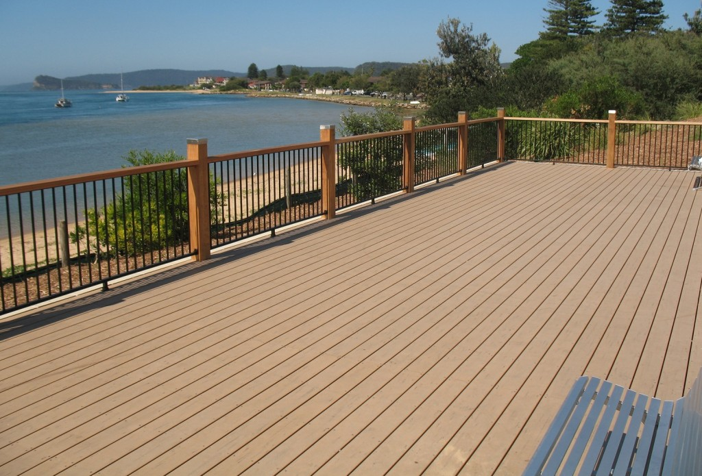 Blackbutt timber modwood composite decks bransons for Timber decking materials